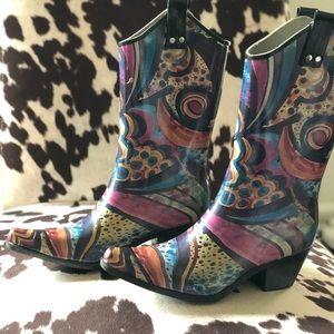 Nomad Yippy cowboy rain boot